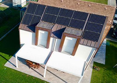 Impianto fotovoltaico in villa